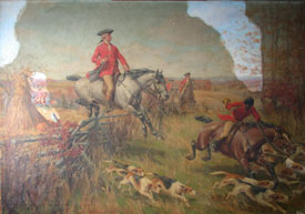 George Washington Fox Hunt, Before cleaning